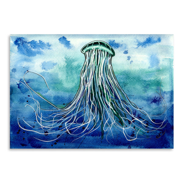 Emperor Jellyfish by Sam Nagel Art Print