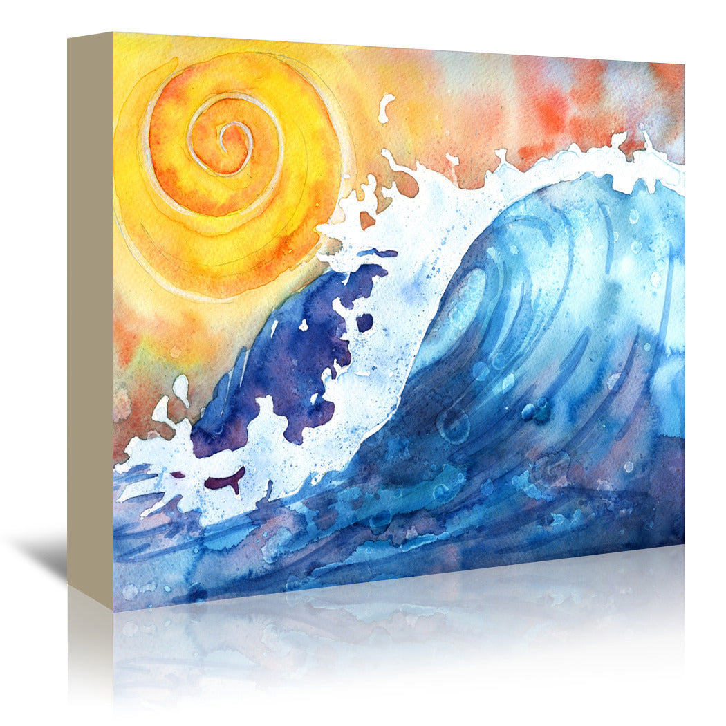 Facing East Ocean Wave by Sam Nagel Wrapped Canvas