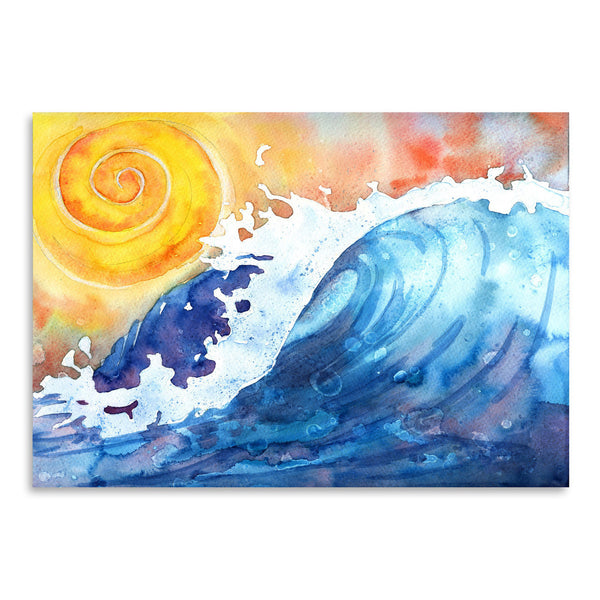 Facing East Ocean Wave by Sam Nagel Art Print