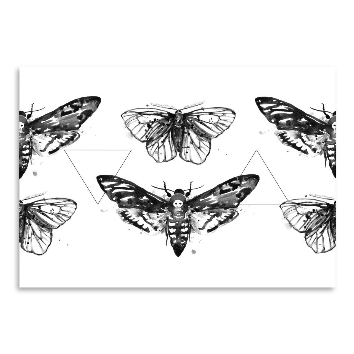 Geometric Moths Repeat Tile by Sam Nagel Art Print - Art Print - Americanflat