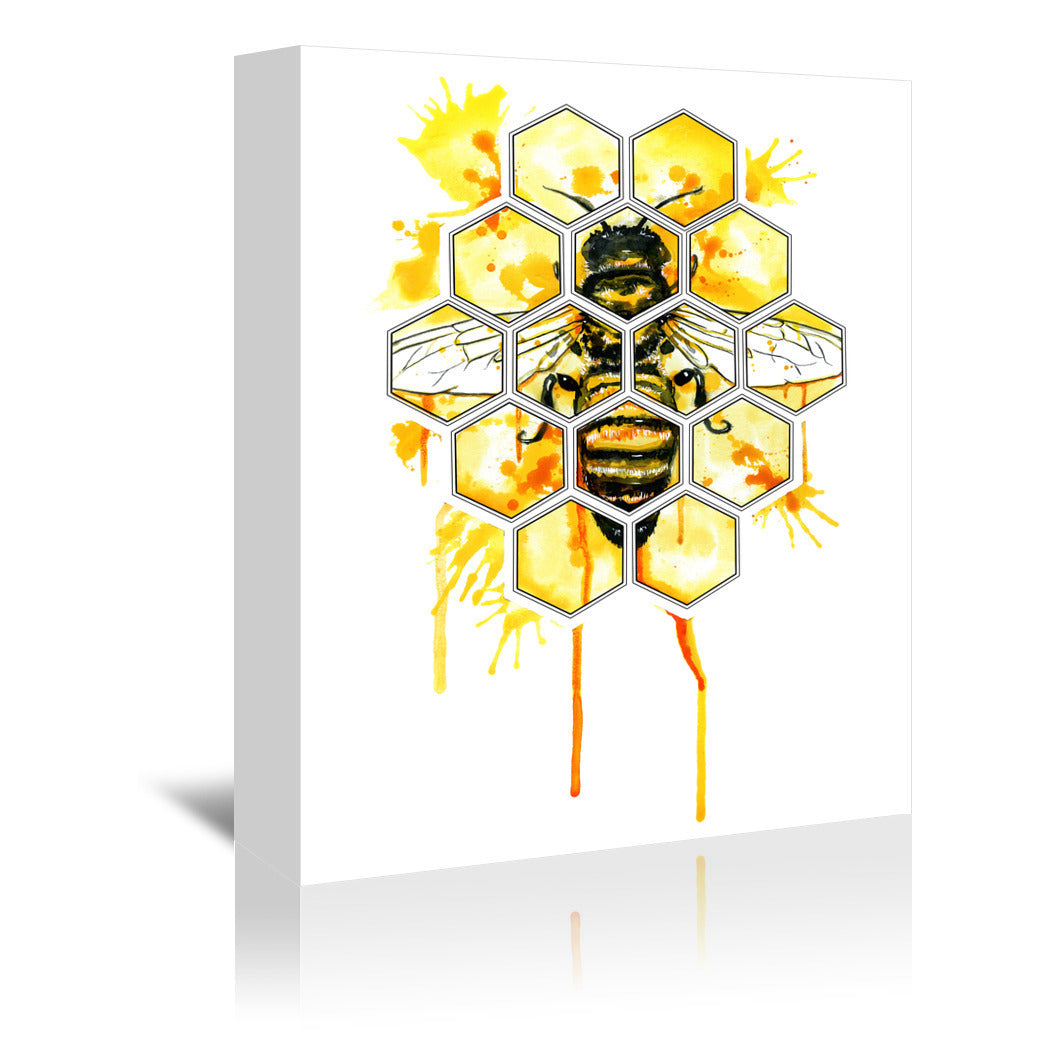 Hive Mentality by Sam Nagel Wrapped Canvas - Wrapped Canvas - Americanflat