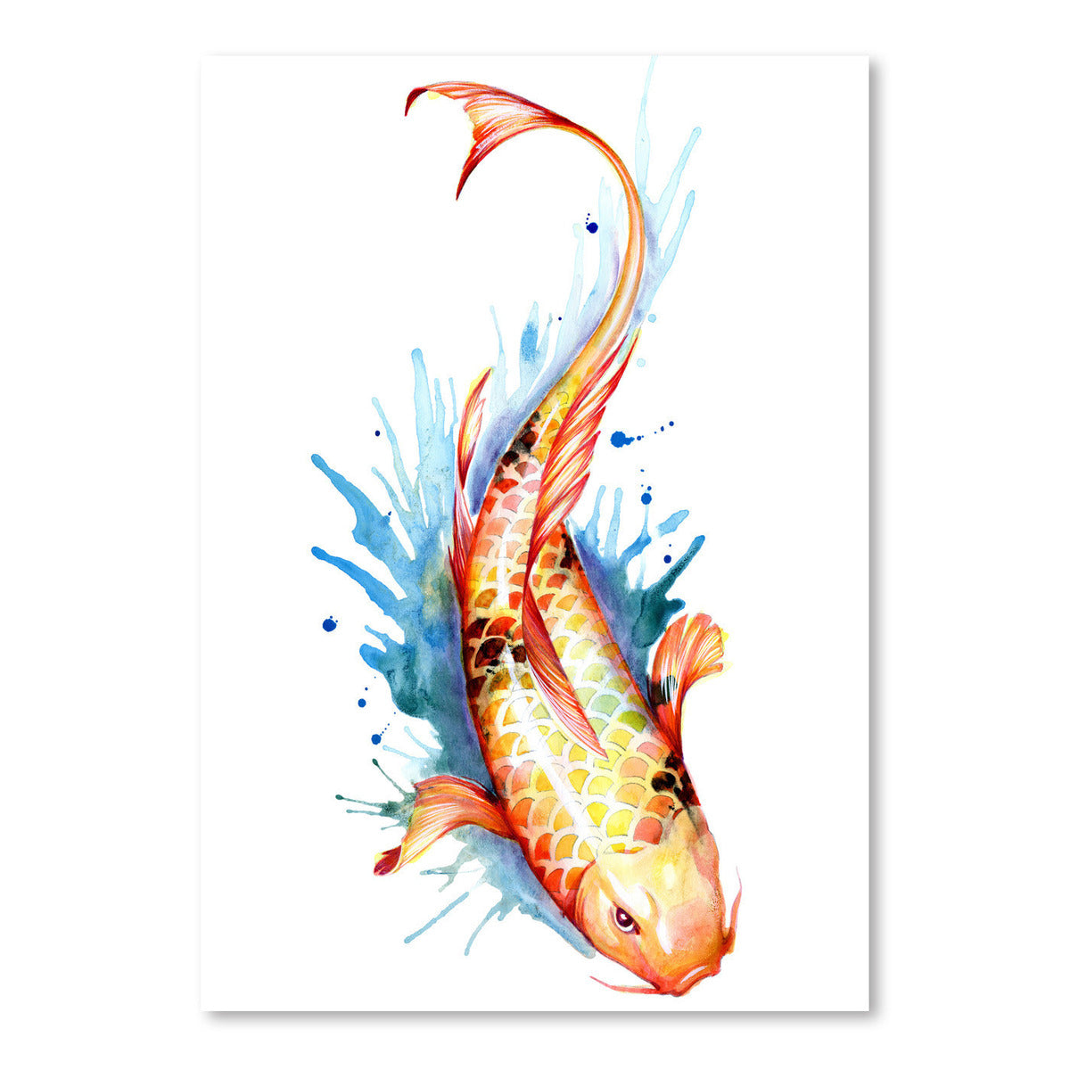 Koi Fish 2 by Sam Nagel Art Print - Art Print - Americanflat