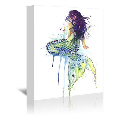 Mermaid by Sam Nagel Wrapped Canvas - Wrapped Canvas - Americanflat