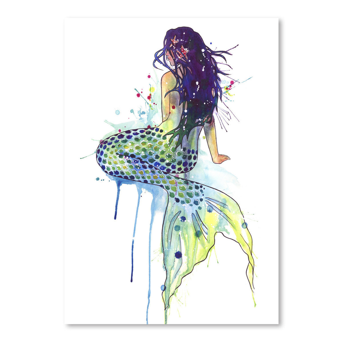 Mermaid by Sam Nagel Art Print - Art Print - Americanflat