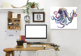 Octopus by Sam Nagel Wrapped Canvas