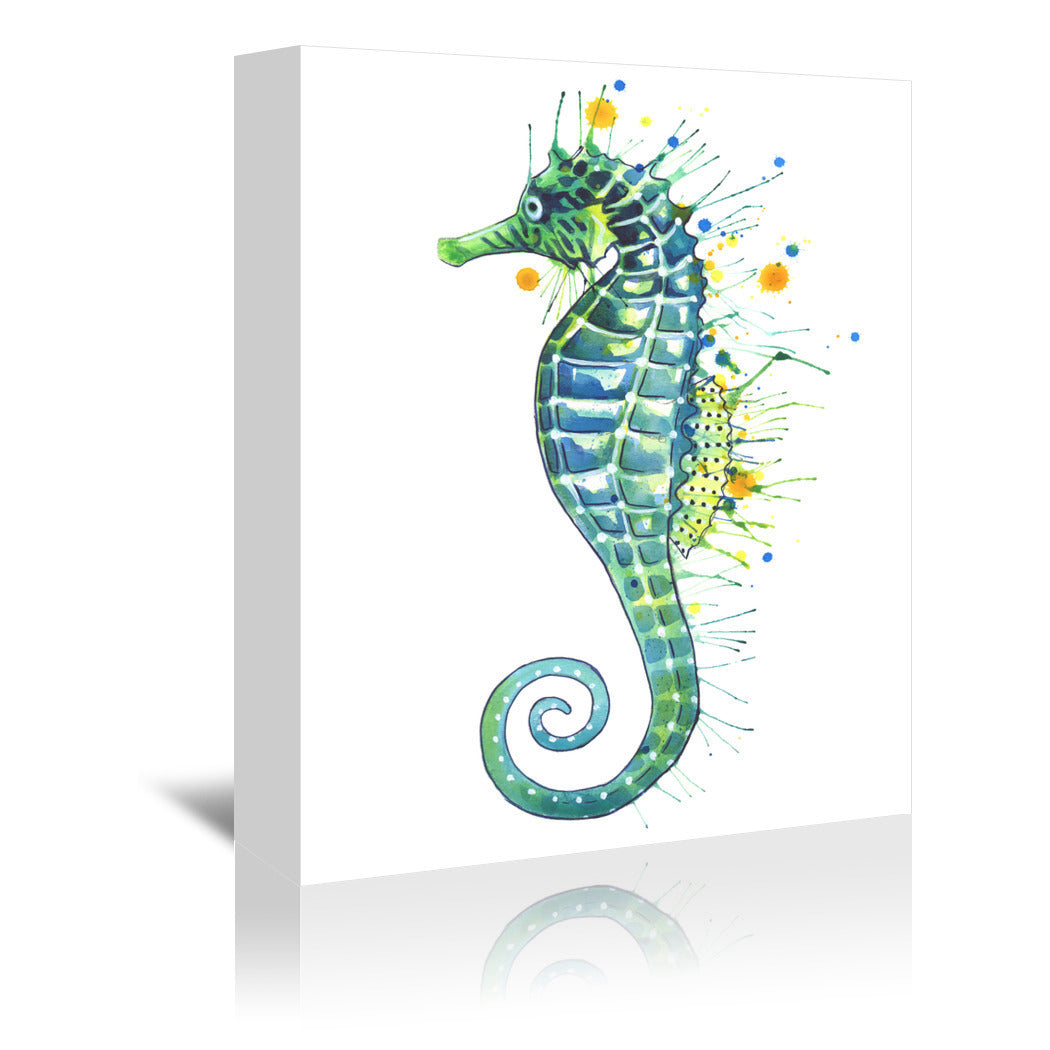 Seahorse Green by Sam Nagel Wrapped Canvas - Wrapped Canvas - Americanflat