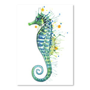 Seahorse Green by Sam Nagel Art Print