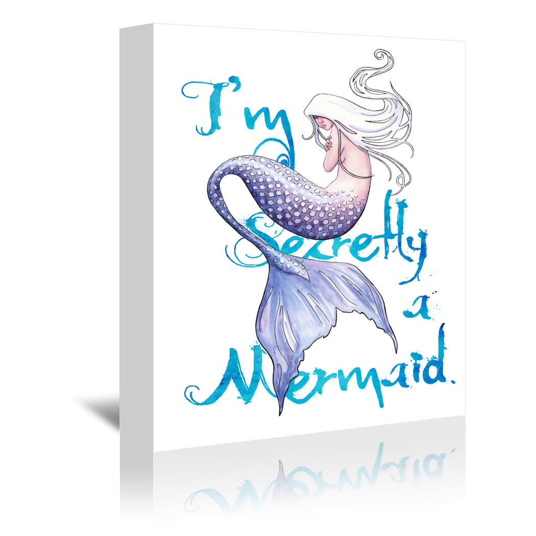 Secretly A Mermaid by Sam Nagel Wrapped Canvas - Wrapped Canvas - Americanflat