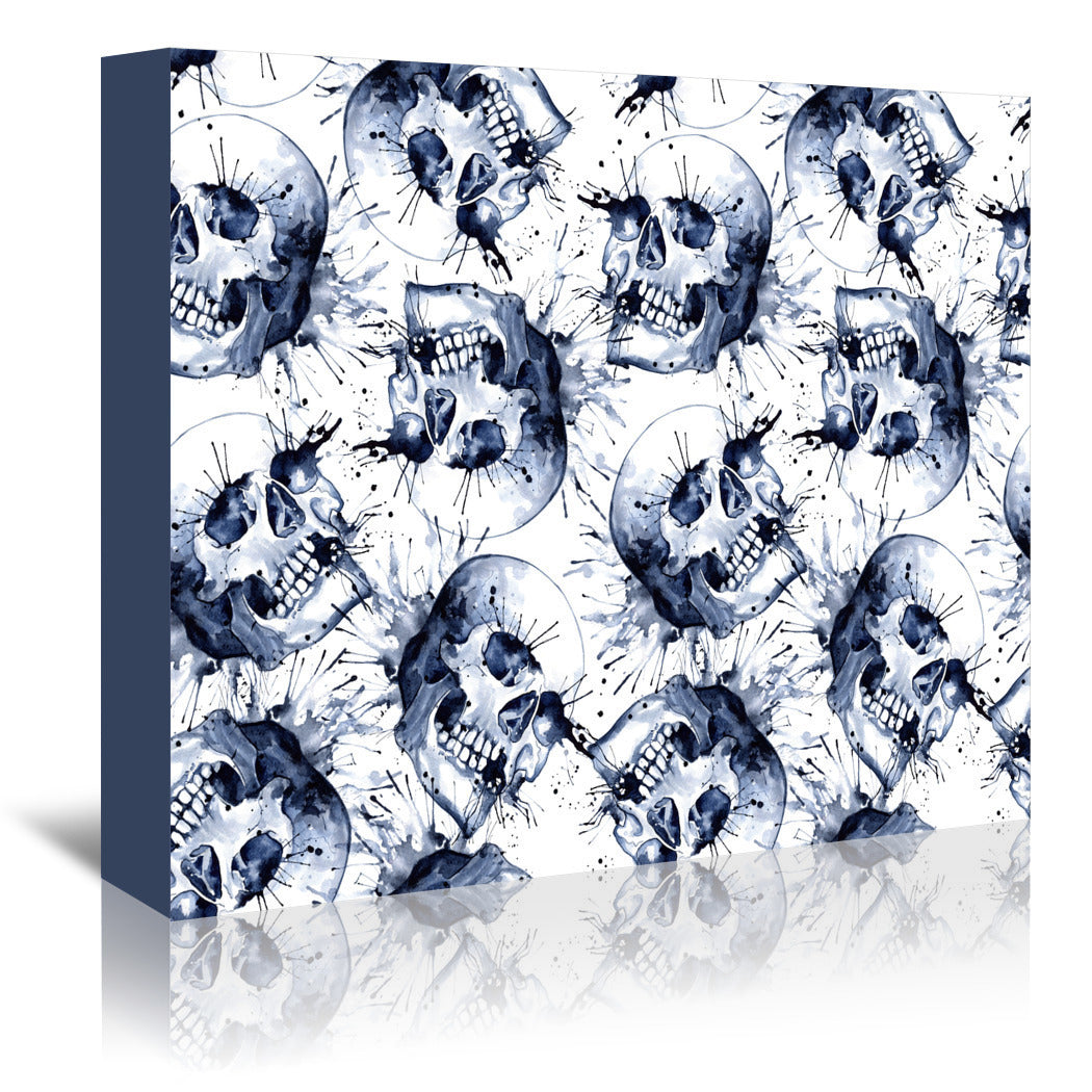 Skull Pattern Repeat Tile by Sam Nagel Wrapped Canvas - Wrapped Canvas - Americanflat