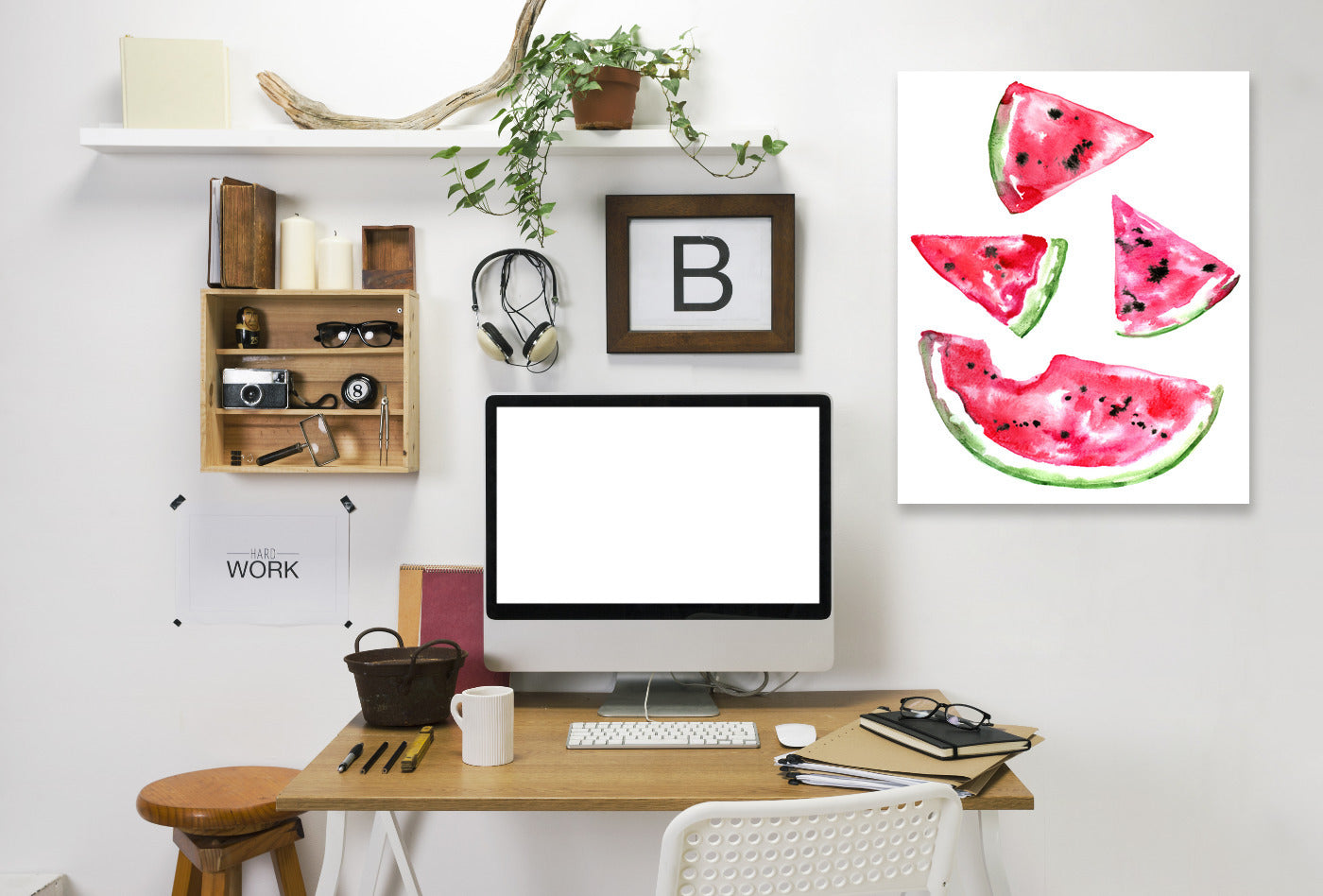 Watermelon Slice by Sam Nagel Wrapped Canvas - Wrapped Canvas - Americanflat