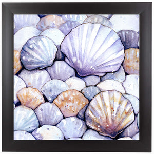 Scallop Shells Amethyst by Sam Nagel Framed Print