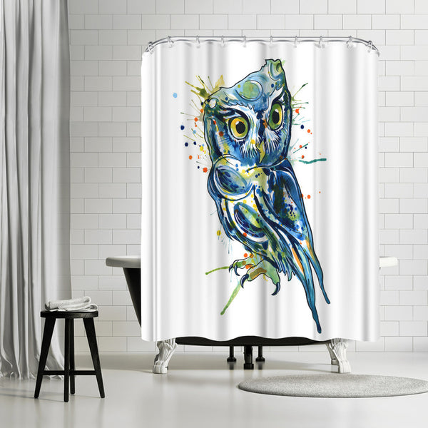 Blue Owl by Sam Nagel Shower Curtain