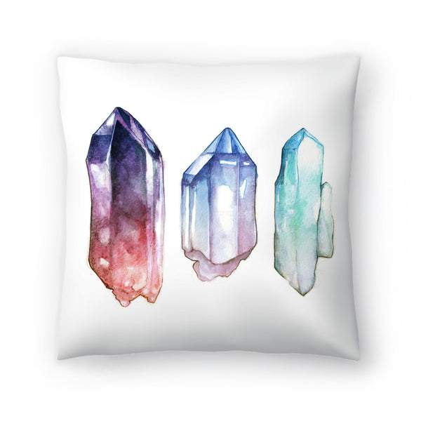Crystals by Sam Nagel Decorative Pillow