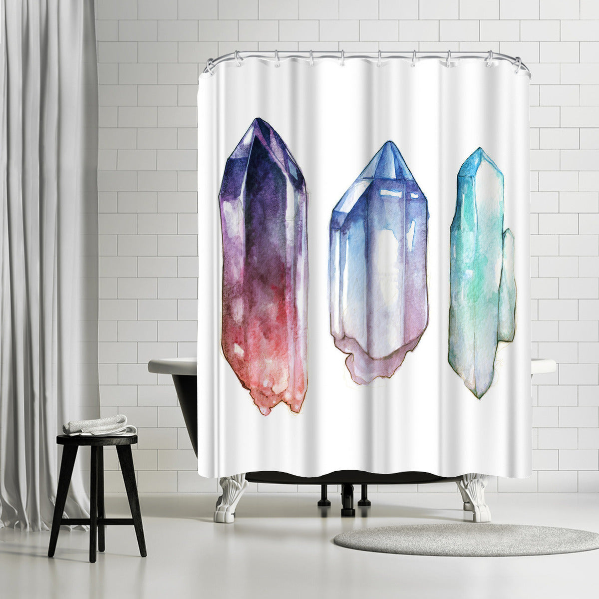 Crystals by Sam Nagel Shower Curtain - Shower Curtain - Americanflat