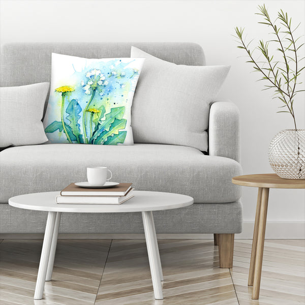 Dandelion by Sam Nagel Decorative Pillow