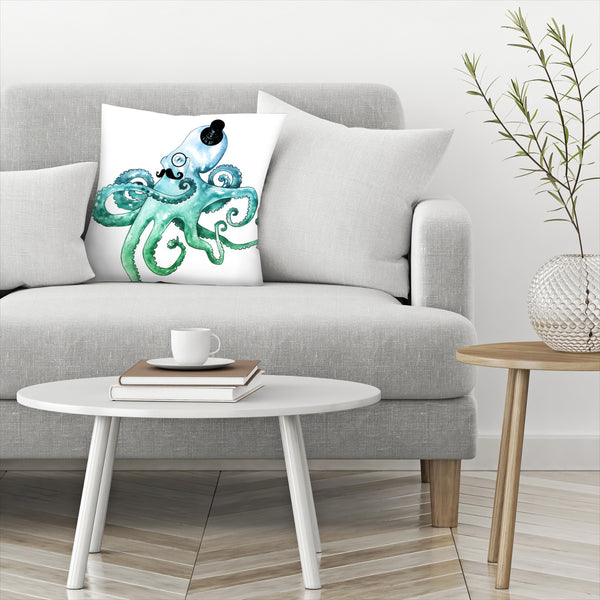 Dapper Octopus by Sam Nagel Decorative Pillow