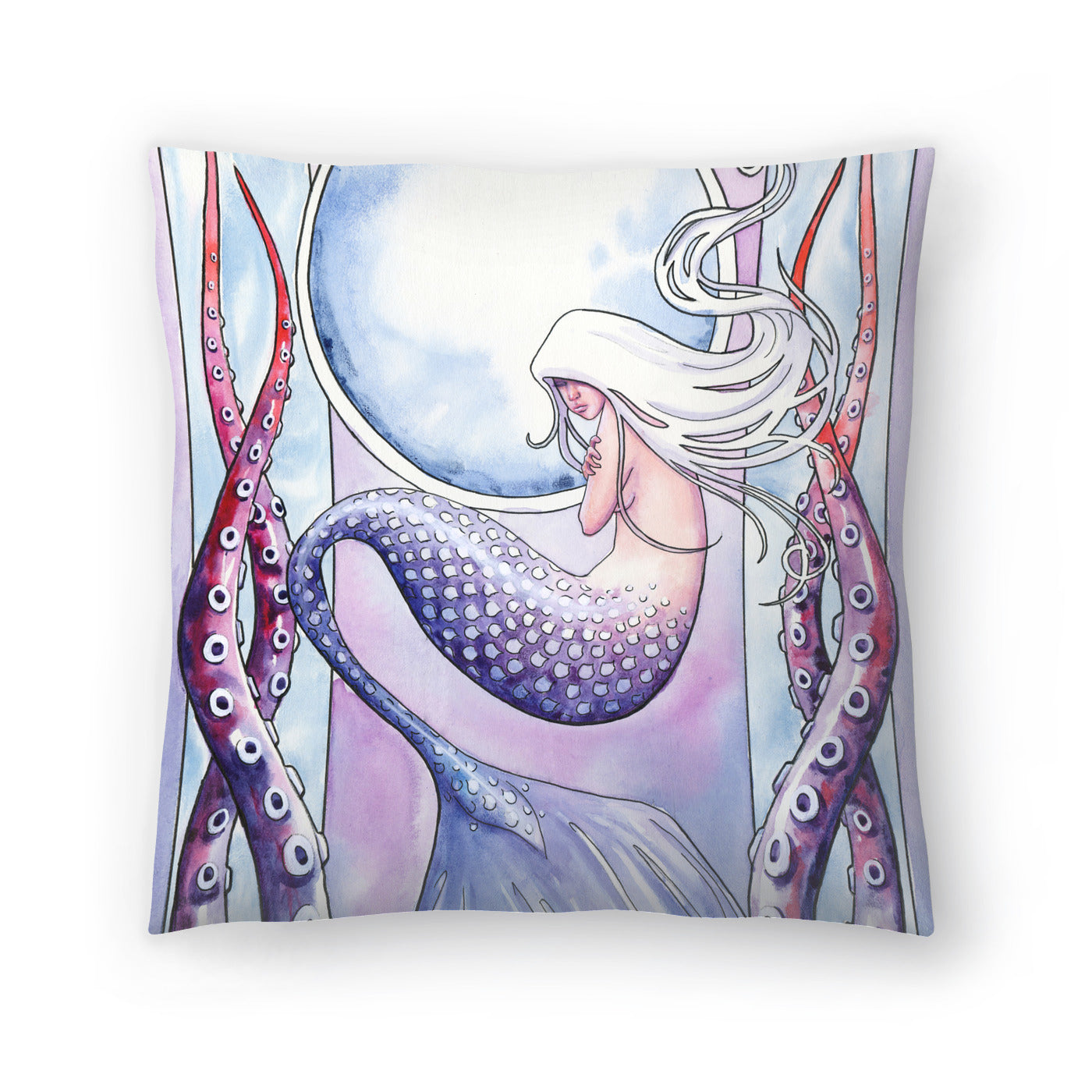 Deep Sea Mermaid by Sam Nagel Decorative Pillow - Decorative Pillow - Americanflat