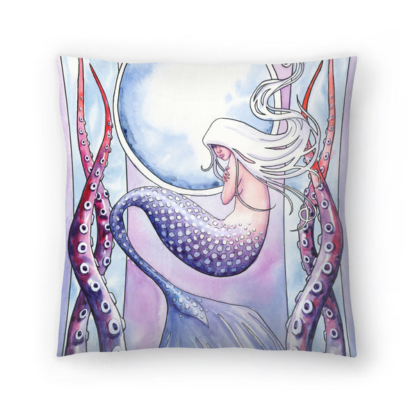 Deep Sea Mermaid by Sam Nagel Decorative Pillow