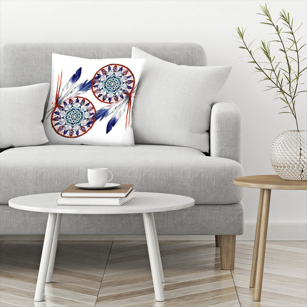 Dream Catcher Mandala by Sam Nagel Decorative Pillow