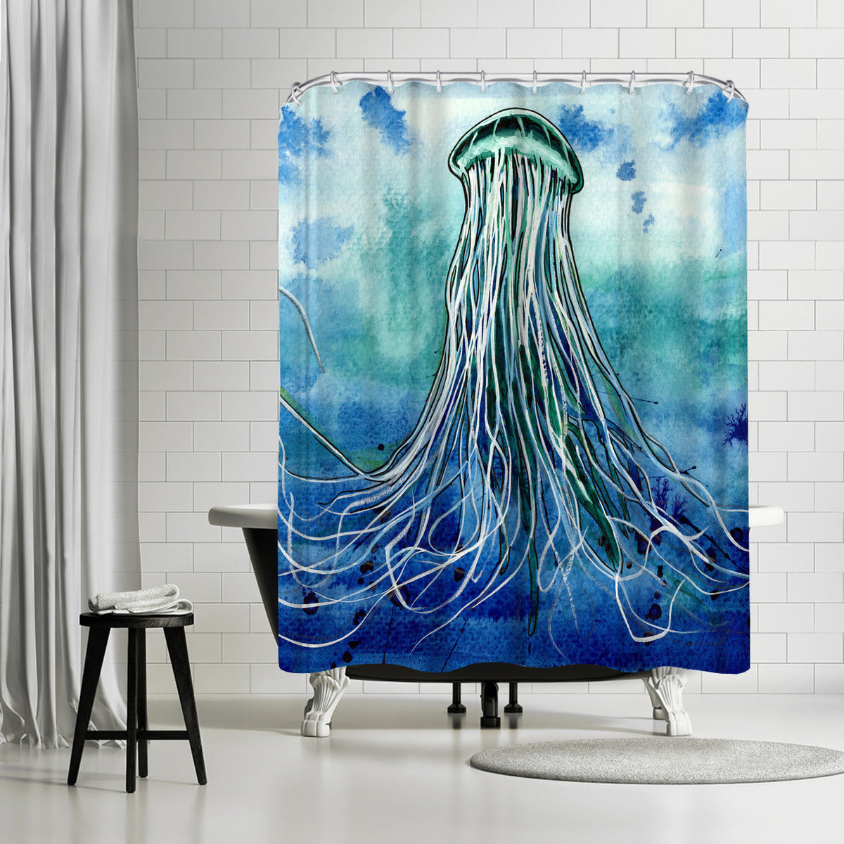 Emperor Jellyfish by Sam Nagel Shower Curtain - Americanflat