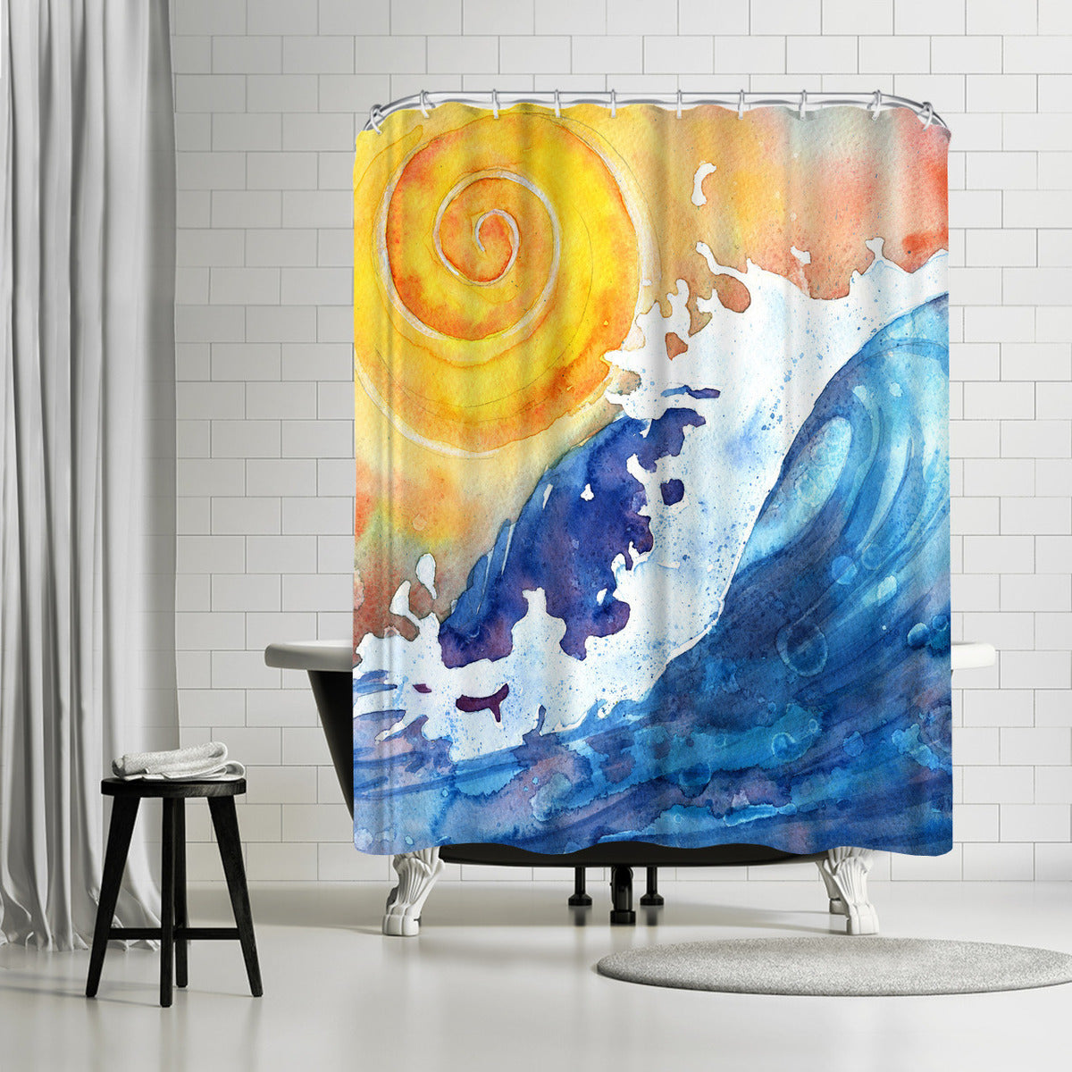 Facing East by Sam Nagel Shower Curtain - Shower Curtain - Americanflat