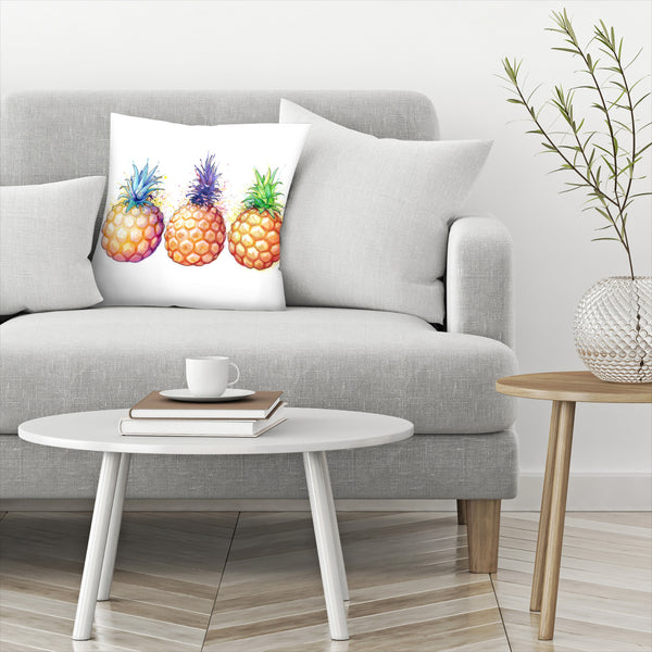 Fat Pineapples by Sam Nagel Decorative Pillow