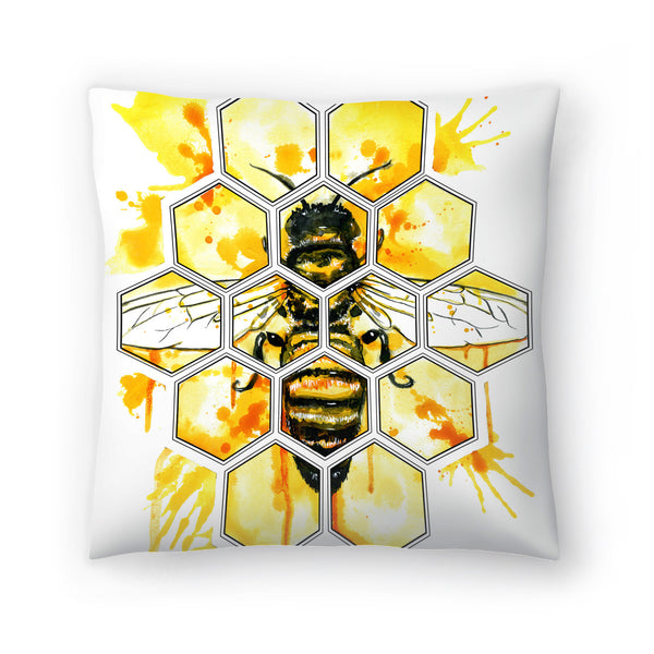 Hive Mentality by Sam Nagel Decorative Pillow