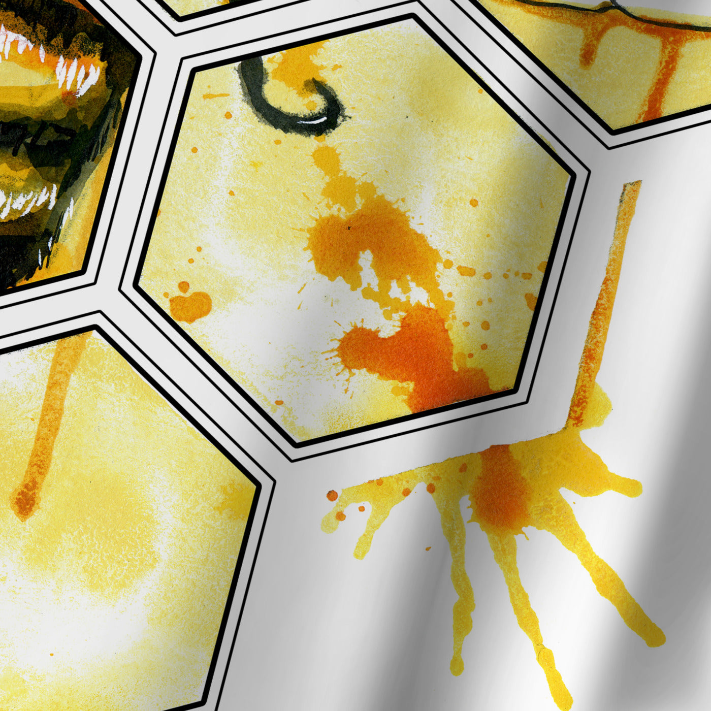 Hive Mentality by Sam Nagel Shower Curtain -  - Americanflat