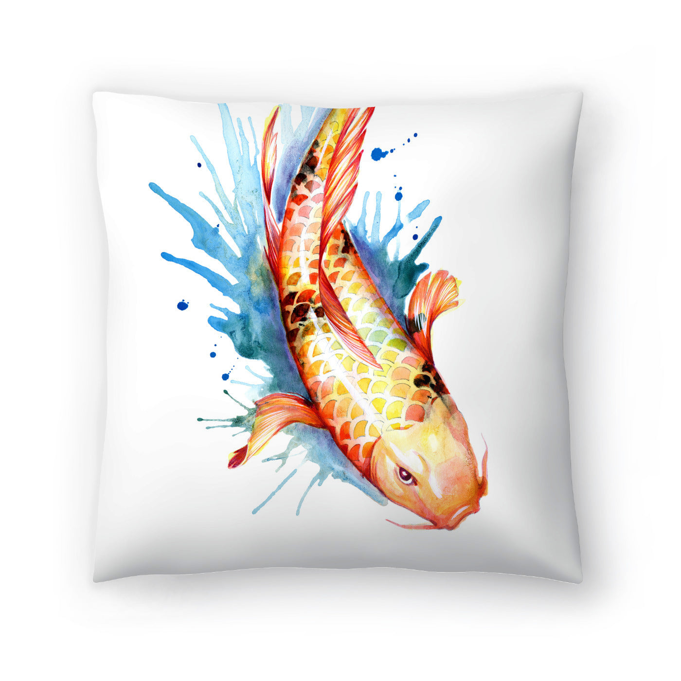 Koi Fish 2 by Sam Nagel Decorative Pillow - Decorative Pillow - Americanflat