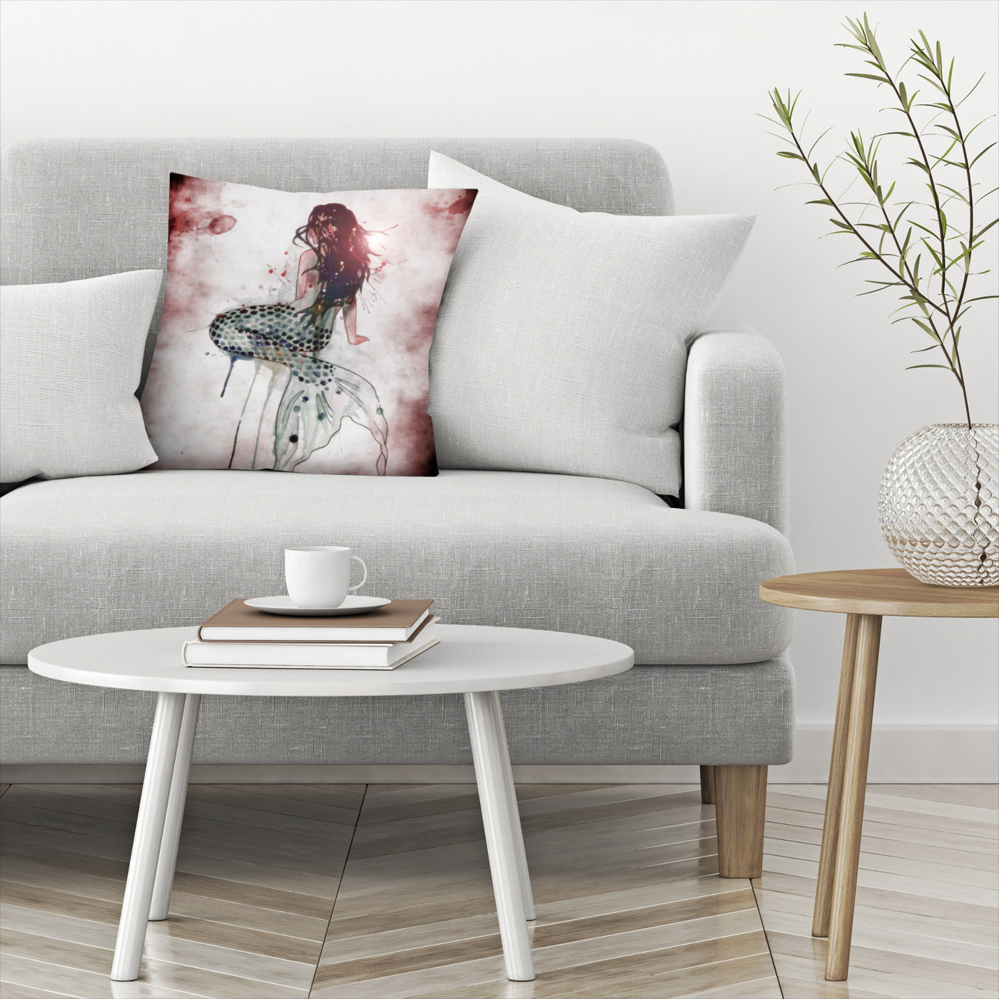 Mermaid 2 by Sam Nagel Decorative Pillow - Decorative Pillow - Americanflat