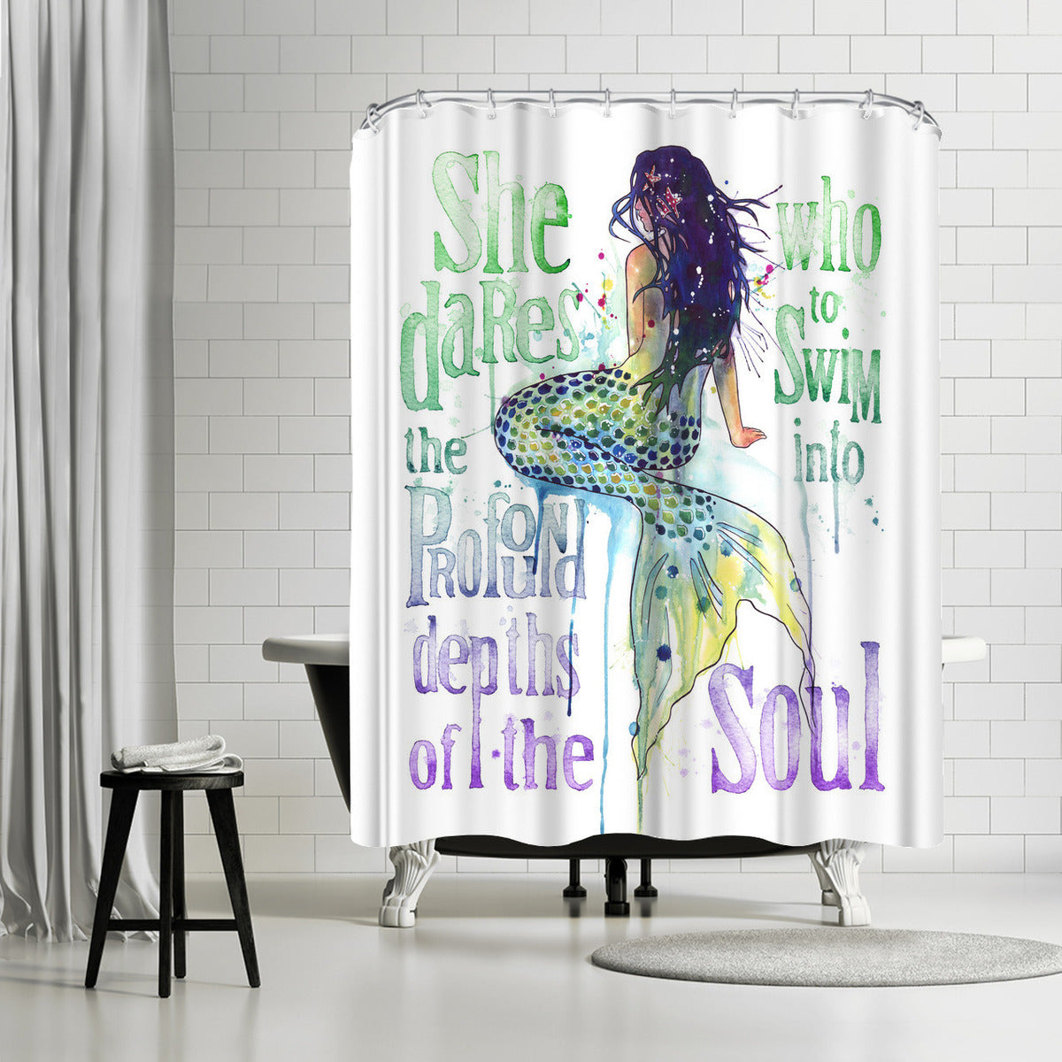Mermaid Profound Depths by Sam Nagel Shower Curtain -  - Americanflat