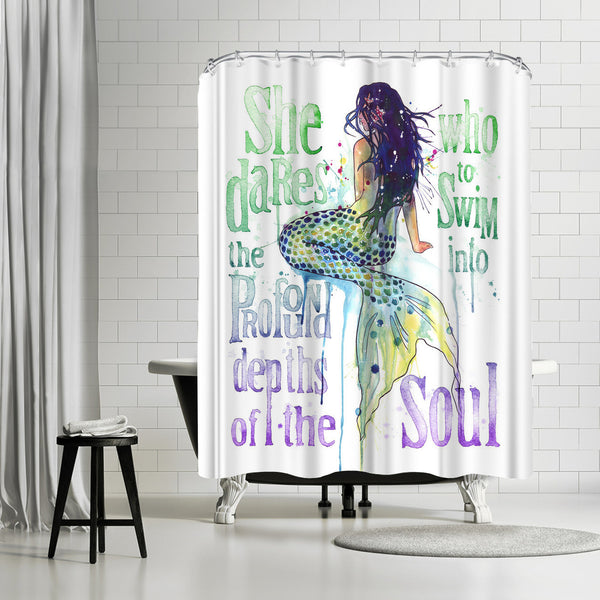 Mermaid Profound Depths by Sam Nagel Shower Curtain