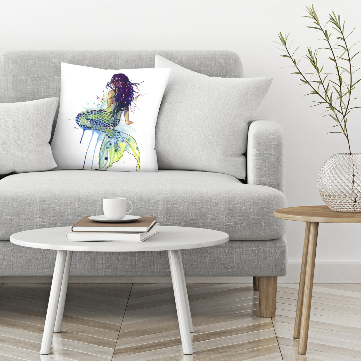 Mermaid by Sam Nagel Decorative Pillow - Decorative Pillow - Americanflat