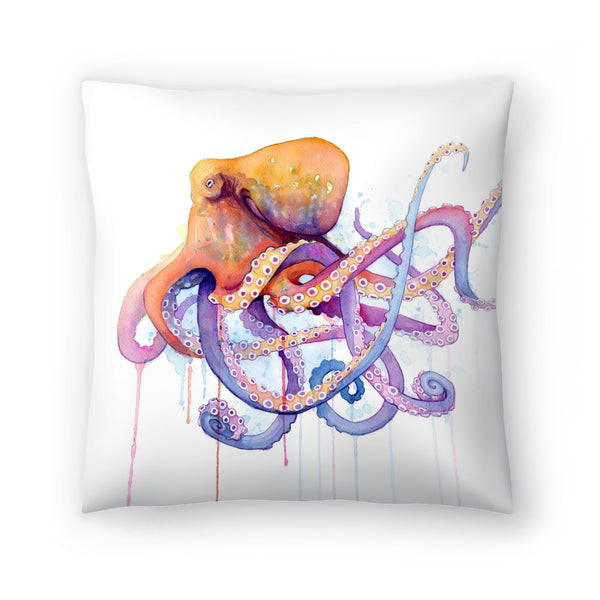 Octopus Ii by Sam Nagel Decorative Pillow