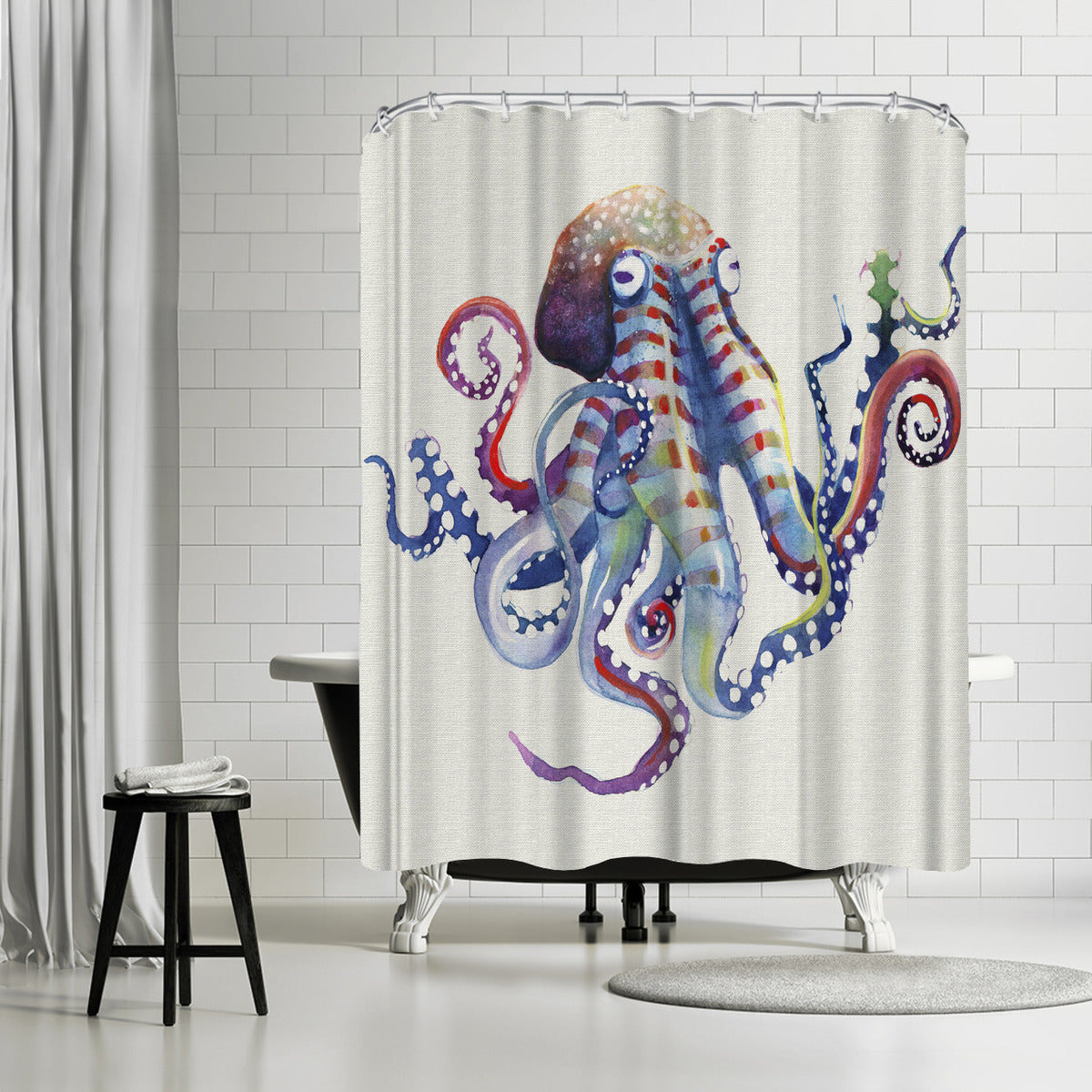 Octopus Natural by Sam Nagel Shower Curtain - Shower Curtain - Americanflat