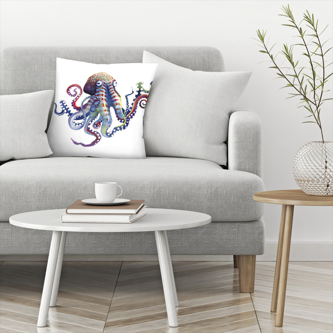 Octopus by Sam Nagel Decorative Pillow - Decorative Pillow - Americanflat