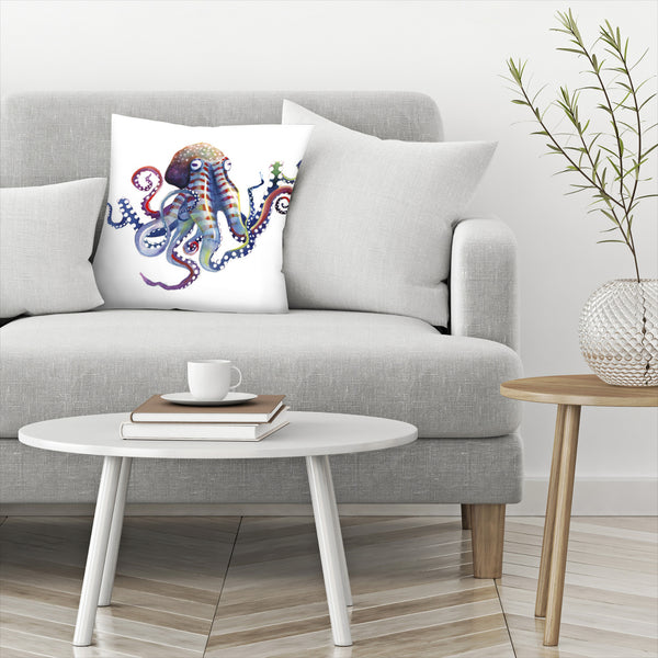 Octopus by Sam Nagel Decorative Pillow