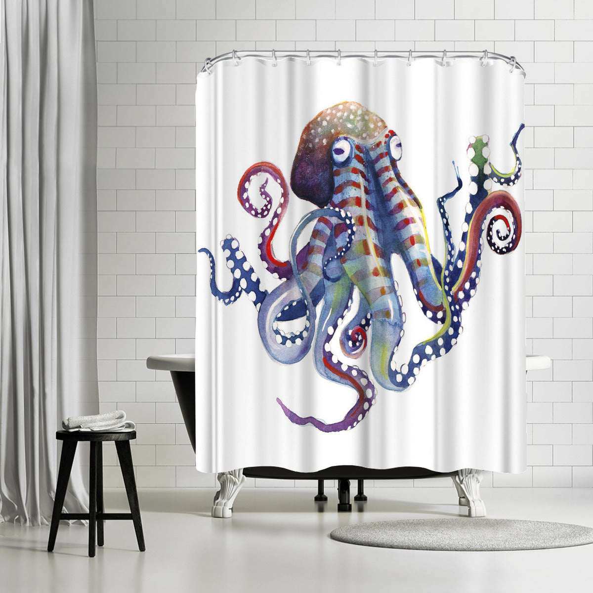 Octopus by Sam Nagel Shower Curtain -  - Americanflat