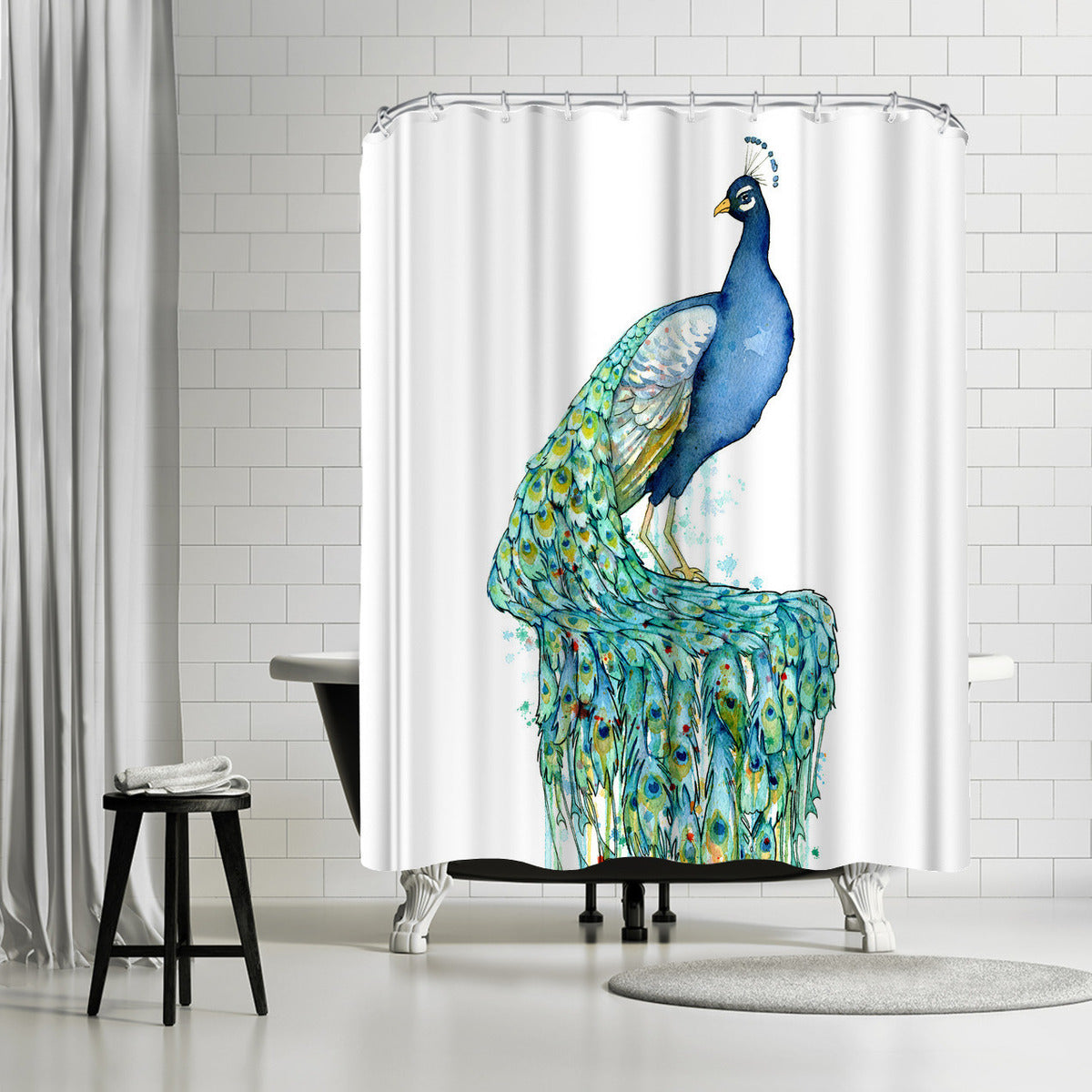 Peacock by Sam Nagel Shower Curtain -  - Americanflat