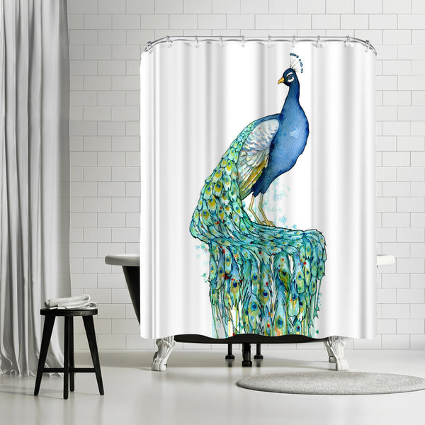 Peacock by Sam Nagel Shower Curtain