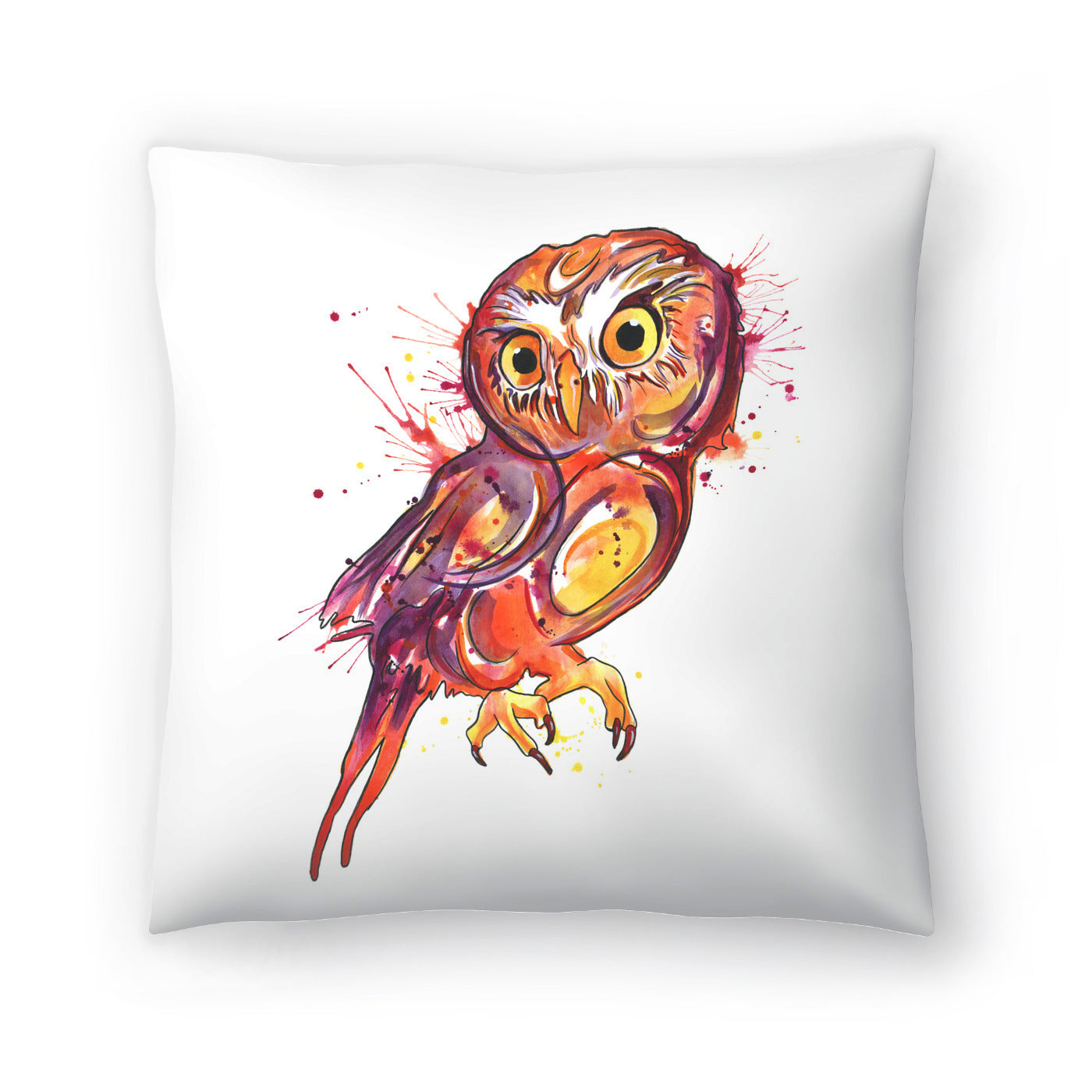 Red Owl by Sam Nagel Decorative Pillow - Decorative Pillow - Americanflat