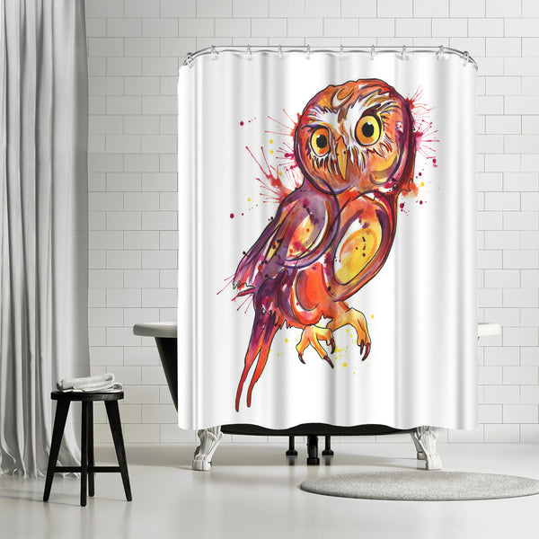 Red Owl by Sam Nagel Shower Curtain