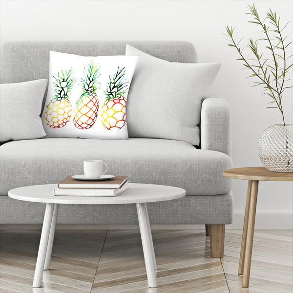 Retro Pineapples by Sam Nagel Decorative Pillow
