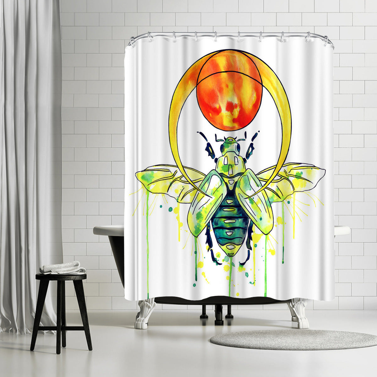 Scarab Beetle by Sam Nagel Shower Curtain - Shower Curtain - Americanflat