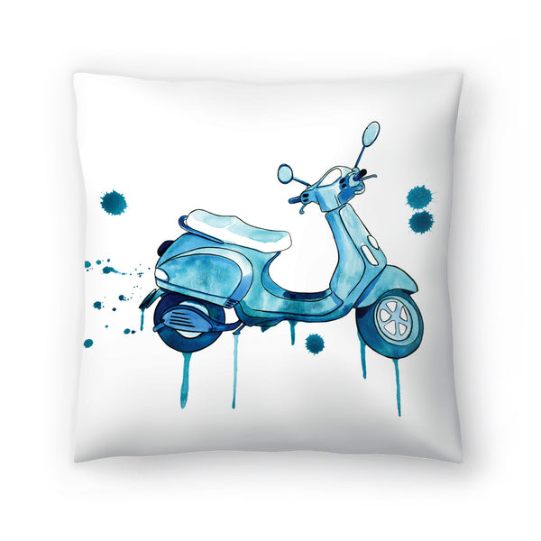 Scooter Away by Sam Nagel Decorative Pillow