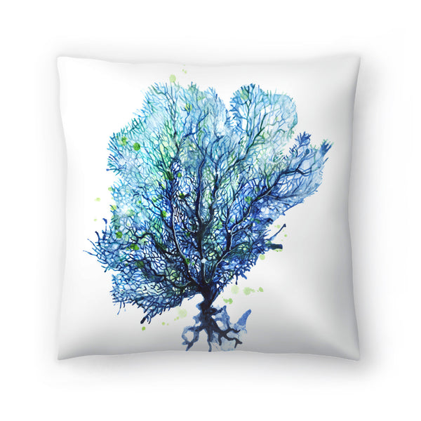 Sea Fan Aqua by Sam Nagel Decorative Pillow
