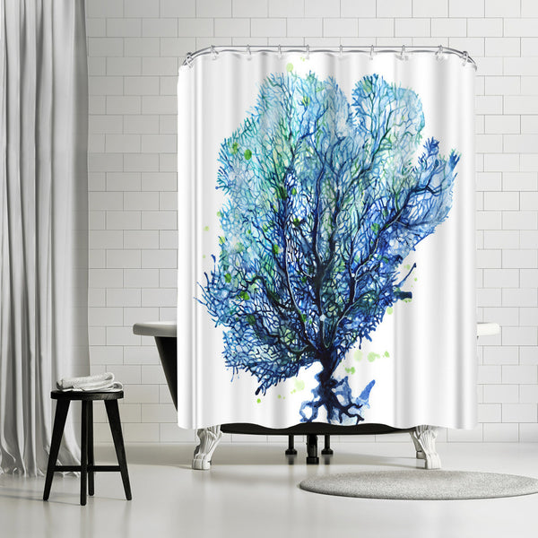Sea Fan Aqua by Sam Nagel Shower Curtain
