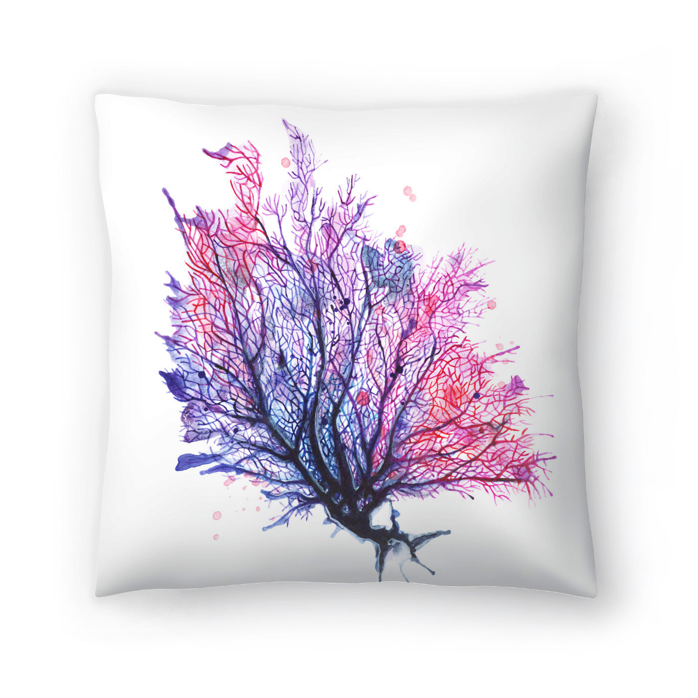 Sea Fan Purple by Sam Nagel Decorative Pillow - Decorative Pillow - Americanflat