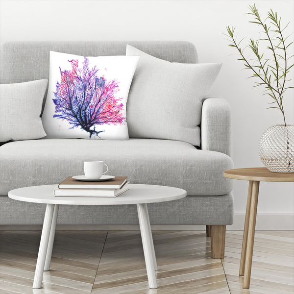 Sea Fan Purple by Sam Nagel Decorative Pillow