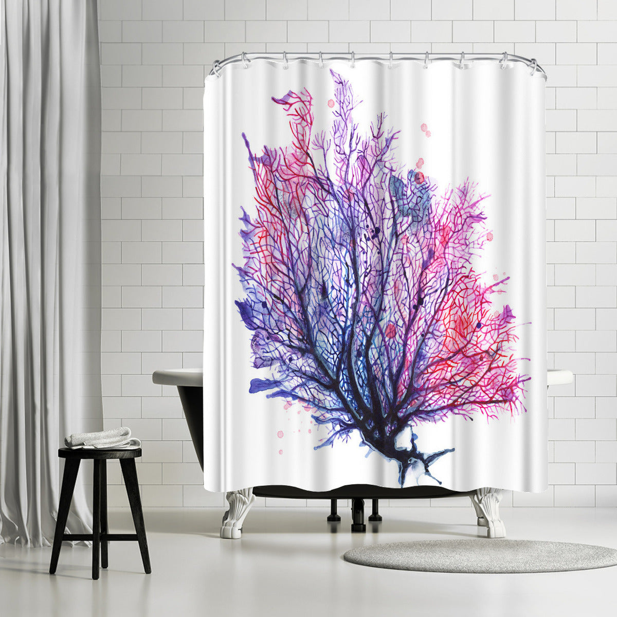 Sea Fan Purple by Sam Nagel Shower Curtain -  - Americanflat